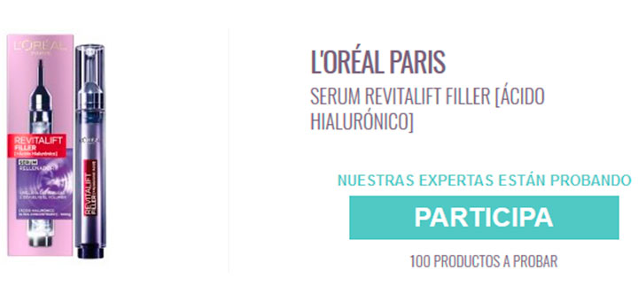 Prueba gratis Serum Revitalift Filler