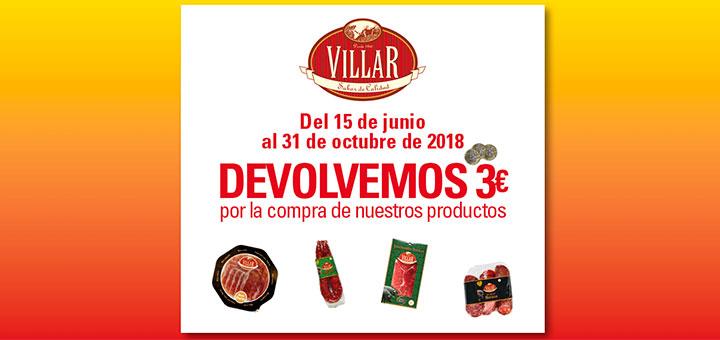 Te devuelven 3€ en productos Villar