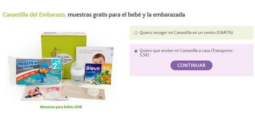 Canastilla del embarazo gratis