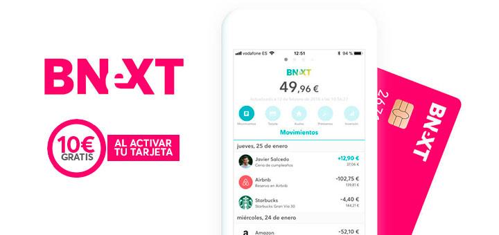 Consigue 10 euros con Bnext