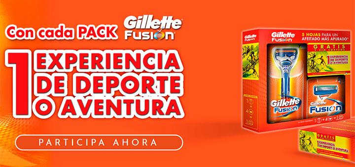 Gana 1 experiencia de deporte o aventura con Gillette Fusion