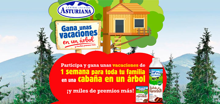 Gana unas vacaciones en una cabaña en un árbol con Central Lechera Asturiana
