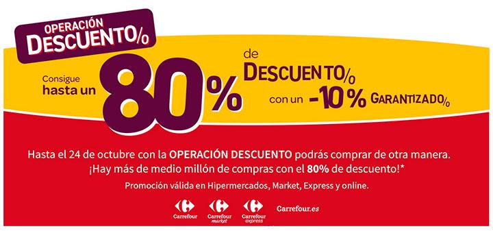 Consigue hasta un 80% de descuento en Carrefour