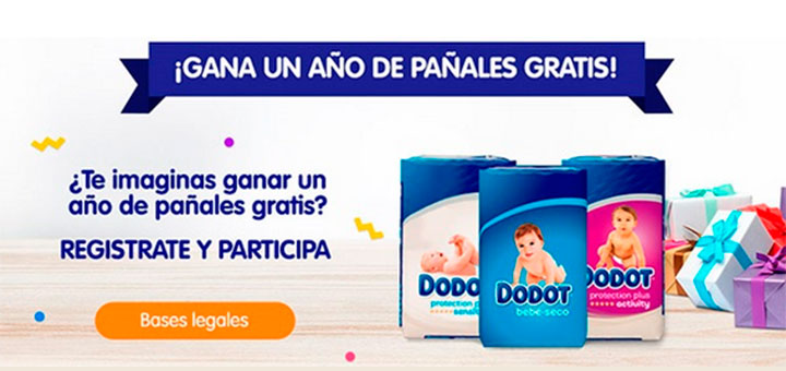 Gana un año de pañales gratis con Dodot