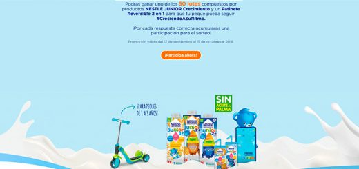 Gana uno de los 50 lotes Nestlé Junior Crecimiento que reparten