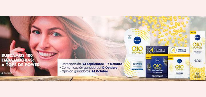 Nivea busca 100 embajadoras de sus productos Q10 Power