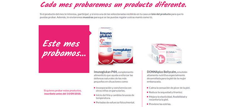 Prueba gratis DonnaPlus Bellycalm y Imunoglukan P4H