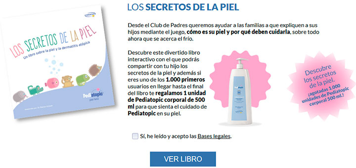 Regalan 1.000 unidades de Pediatopic corporal