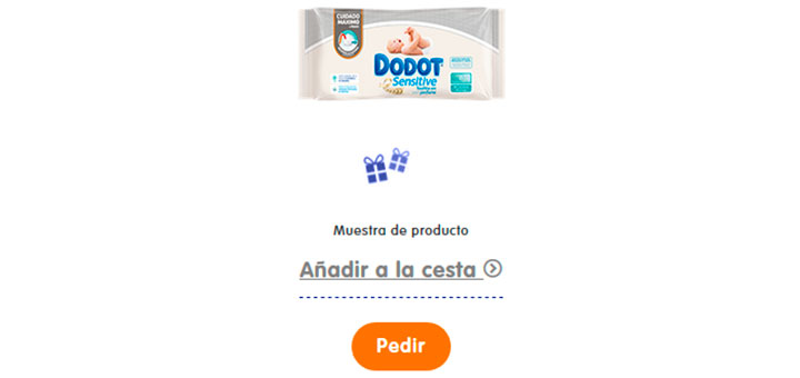 Toallitas Dodot Sensitive gratis
