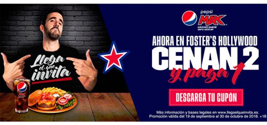 2 x 1 en Foster's Hollywood