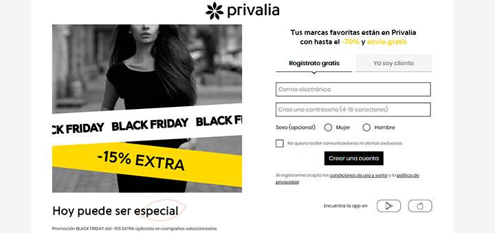 15% de descuento extra en Privalia este Black Friday