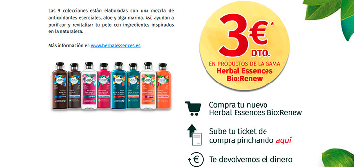 3€ de descuento en Herbal Essences Bio:Renew