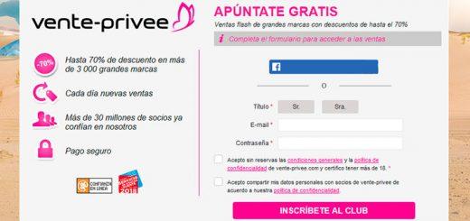 Hasta 70% de descuento en más de 3.000 grandes marcas con Vente-Privee