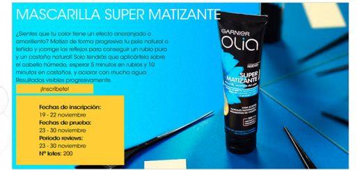 Prueba gratis Mascarilla Super Matizante Olia