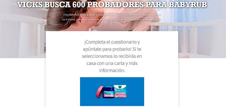 Vicks busca 600 probadores para Babyrub