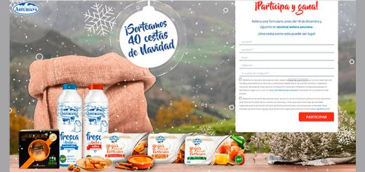 Central Lechera Asturiana sortea 40 cestas de Navidad