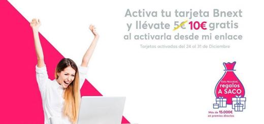 Llévate 10€ por cada amigo que active su tarjeta Bnext