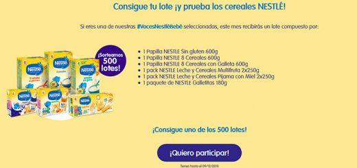 Prueba gratis Cereales Nestlé para bebés