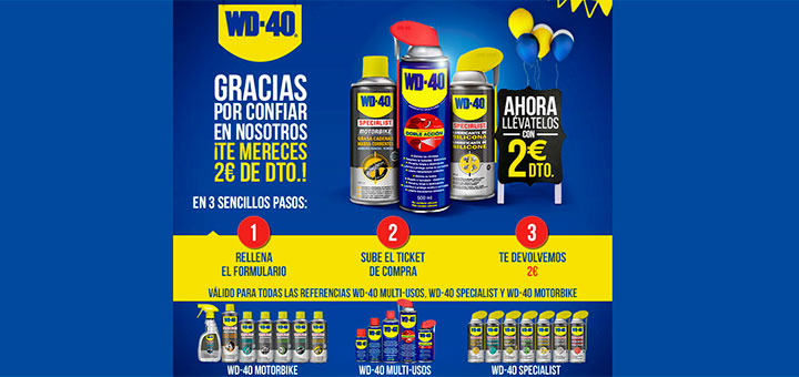 2€ de descuento con WD-40