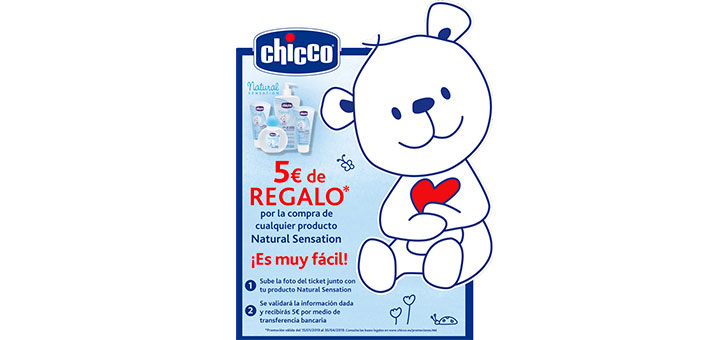 5€ de regalo con Chicco Natural Sensation