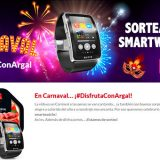Argal sortea 5 Smartwatchs en Carnaval