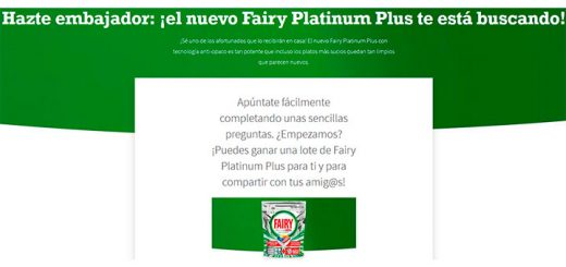 Buscan embajadores del nuevo Fairy Platinum Plus