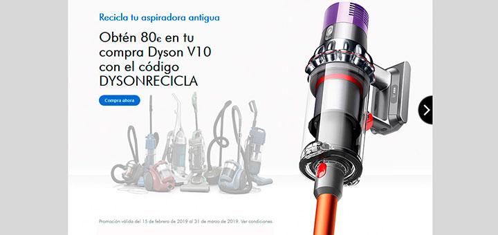 Consigue 80€ con Dyson