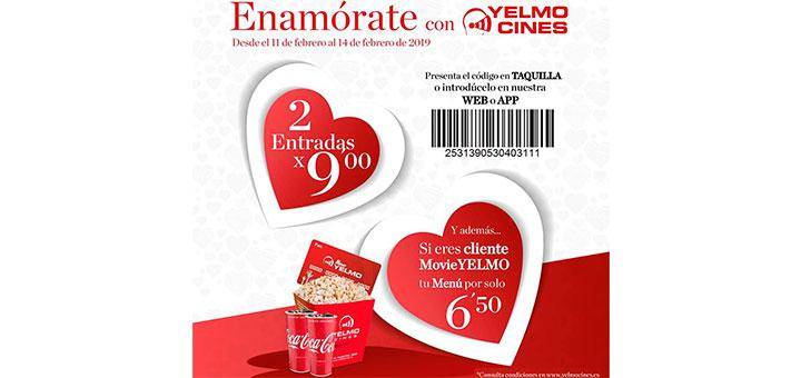 Oferta de San Valentín con Yelmo Cines