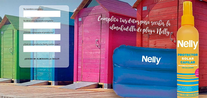 Regalan almohadillas de playa Nelly