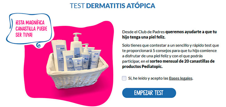Sortean 20 canastillas de productos Pediatopic al mes