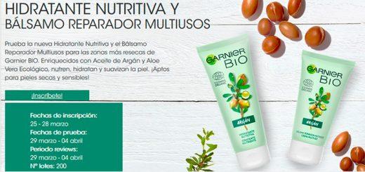 Dan a probar gratis Hidratante Nutritiva y Bálsamo Garnier Bio