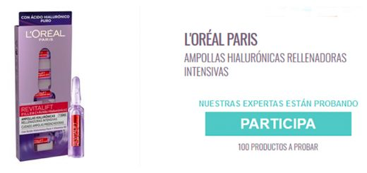 Prueba gratis Ampollas Hialurónicas L'Oreal Paris