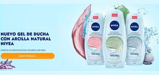 Prueba gratis el nuevo gel de ducha con Arcilla natural Nivea