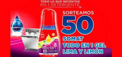 Sortean 50 Somat Todo en 1 Gel Lima y Limón
