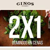 2x1 en cenas en Ginos