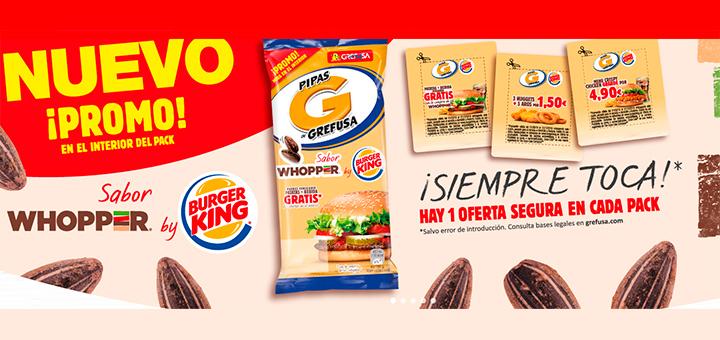 Consigue 1 oferta segura con Pipas G sabor Whopper