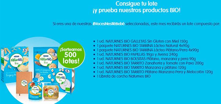 Dan a probar gratis Naturnes Bio de Nestlé