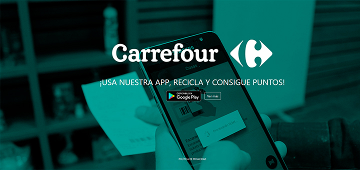 Recicla y consigue puntos con Carrefour