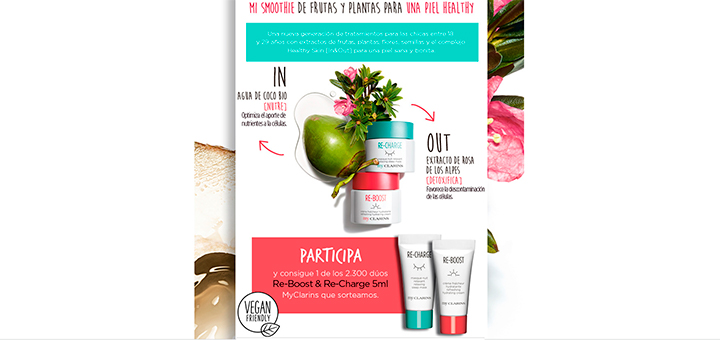 Sortean 2.300 dúos Re-Boost & Re-Charge MyClarins