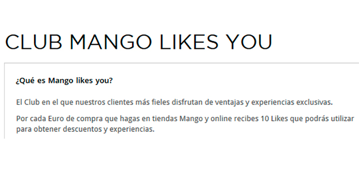 Ahorra con Club Mango Likes You