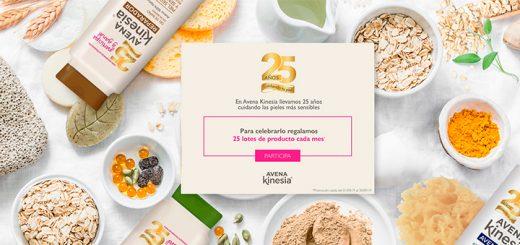 Avena Kinesia regala 25 lotes de productos cada mes