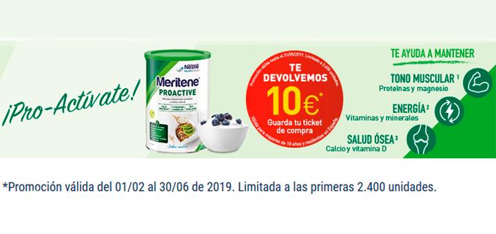 Consigue 10€ con Meritene Proactive
