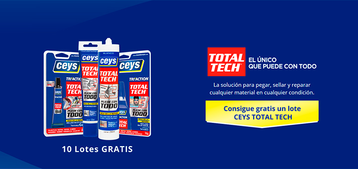 Consigue gratis un lote Ceys Total Tech