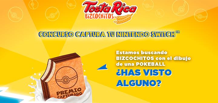 Gana una Nintendo Switch con TostaRica Bizcochitos