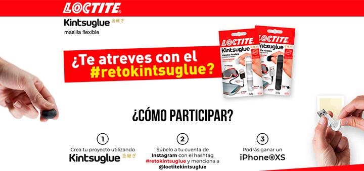 Gratis una masilla flexible Loctite Kintsuglue y gana un iPhone XS con Loctite