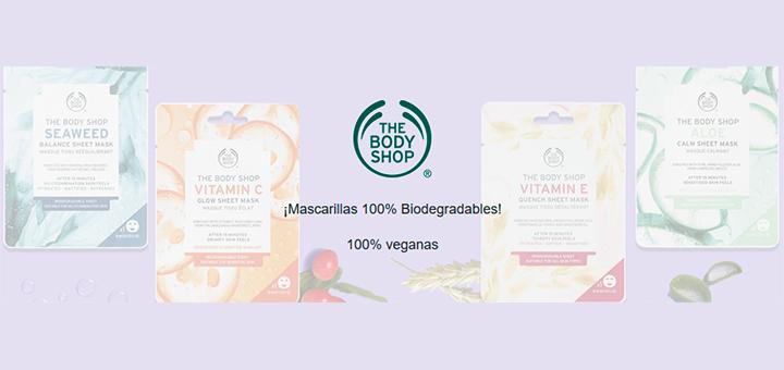 Muestras gratis de Mascarillas 100% Biodegradables The Body Shop