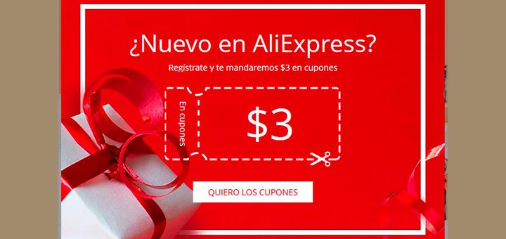 Obtén un cupón descuento con AliExpress