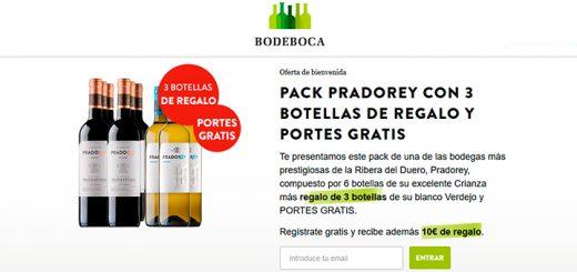Pack Pradorey con 3 botellas de Regalo y Portes Gratis