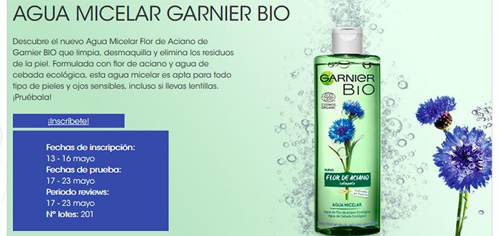 Prueba gratis Agua Micelar Garnier Bio