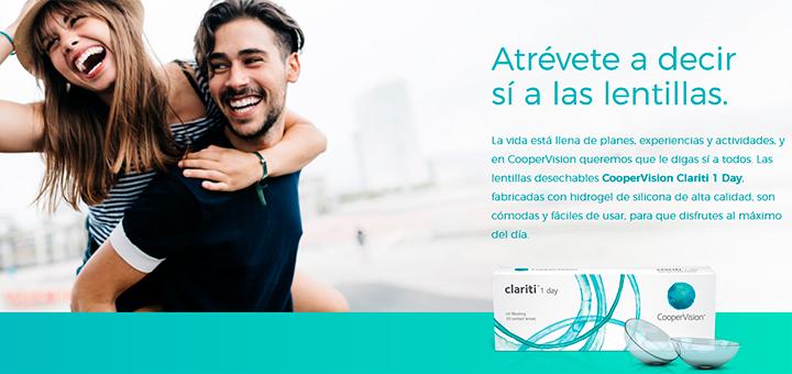 Prueba gratis Lentillas CooperVision Clariti 1 Day